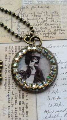 steampunk resin necklace  £8.00