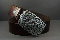 Vintage Brown Leather Belt Knotted on Vintage by 4MLeatherDesign, $86.00