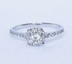Natural White Sapphire Solitaire Engagement by TheAladdinsCave