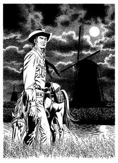 Tex na Holanda em uma arte de Fabio Civitelli