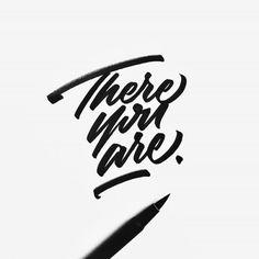Lettering inspiration by jeremyfriend sometimes a little patience is all yo Calligraphy Types, Calligraphy Letters, Typography Letters, Typography Logo, Handwritten Typography, Script Lettering, Brush Lettering, Lettering Design, Logo Design