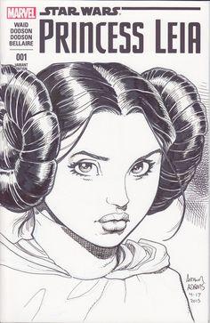 Star Wars - Princess Leia by Arthur Adams