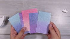 DIY Ombre Glitter Paper and Die cut inlay Technique #Cardmaking #Aliexpress
