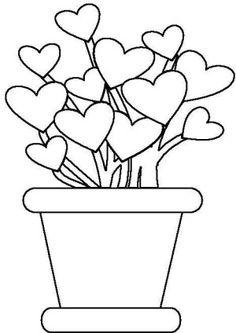 imagen de corazones para pintar