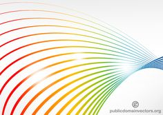 Vector Color Lines Background Design