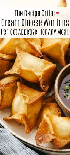 Cream Cheese Wontons, Cream Cheese Filling, Asian Recipes, Fries, Appetizers, Food, Snacks, Appetizer, Asian Food Recipes