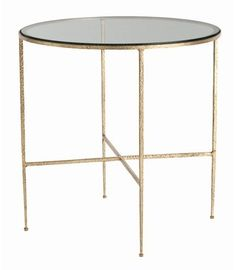 Winchester Hammered Iron and Glass Side Table