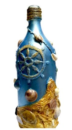 Decorative Bottle Handmade Sea Style High Quality One by MilaShope