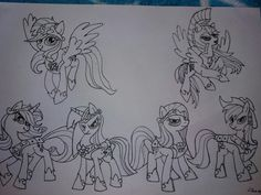 Mane 6 with (EPIC) armors