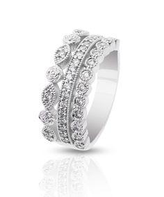 Lucia Ring – Jenna Clifford #JennaClifford #ring #beautifuldesign Jenna Clifford, Shimmer N Shine, Dress Rings, Everyday Dresses, Beautiful Rings, Black Diamond, White Gold, Wedding Rings, Rock Candy
