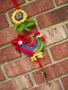 Fiddlesticks - My crochet and knitting ramblings - no pattern Crochet Birds, Crochet Motifs, Easter Crochet, Love Crochet, Crochet Animals, Crochet Flowers, Crochet Stitches, Crochet Patterns, Crochet Home Decor