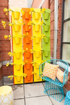 The prettiest privacy wall we have ever seen! #HomeGoodsHappy #outdoor #decor