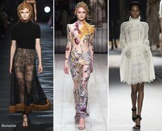 Fall/ Winter 2016-2017 Fashion Trends: Embroidery & Lace