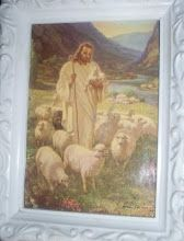 "My Daily Walk Bible Study Blog:  I like this picture of Jesus with sheep.  ""For he is our God, and we are the people of his pasture, and the sheep of his hand..."" Psalm 95: 7  ESV"