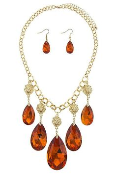 Faceted faux teardrop fringe station necklace set http://style-your-curves.com/products/fbj-njne1741c1-id-34651?utm_campaign=crowdfire&utm_content=crowdfire&utm_medium=social&utm_source=pinterest