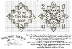 Black Work Christmas Patterns   blackwork ornament