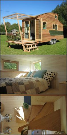 Want to live a literally simpler but more adventurous life? Perhaps La Tiny House can help you realise your dream! http://architecture.ideas2live4.com/2016/04/21/la-tiny-house/ La Tiny House is a company that custom builds tiny homes on wheels. The goal is not mainly to build houses for frequent traveling or moving but to reduce homeowner's expenses and environmental impact. These homes may be tiny but they won't cramp your style. They are perfect for off-grid living although they can also b