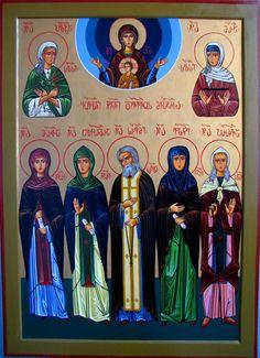 Собор святых Дивеевского монастыря Грузинская икона Тамара Ригишвили tamarapaint.com