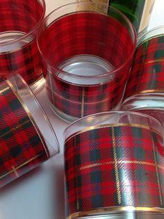 Vintage Scottish Tartan Plaid Lowball Double Old by FleaAndPick, $22.00