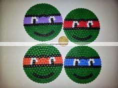 TMNT coasters hama beads by Nuria Henares Sanmartín