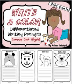 Writing Prompts that are differentiated and aligned with common core are perfect printables for your classroom instruction to give kids practice in writing while creating awareness about different emotions. Children can make personal connections easily to start writing their opinions and ideas.The topics are: 1) The baby panda is sad.Why? 2) The cat is happy. Why? 3) The koala is surprised. Why? 4) The lion is angry. Why? Click Below to Read How I used the Journal Prompts in my Class