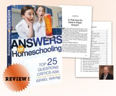 A Homeschool Mom's review of Answers for Homeschooling: Top 25 Questions Critics Ask. Join us and learn more!