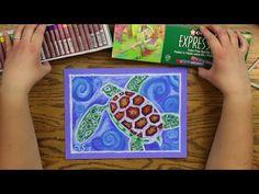 Oil Pastel Lesson - SEA TURTLE - YouTube