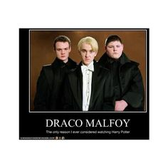 FUCK YEAH DRACO MALFOY ❤ liked on Polyvore featuring harry potter, pictures and draco malfoy