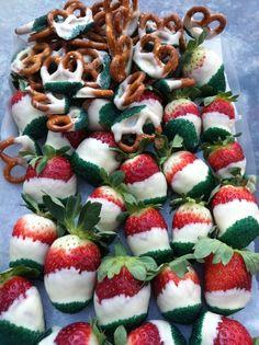 Xmas Eve Chocolate covered strawberries