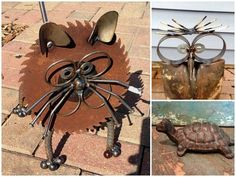 Rustic and Recycled Garden Art Ideas on eBay - there all kinds of cool ideas here!