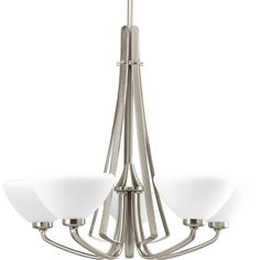 Progress Lighting Rave Collection Brushed Nickel 5-Light Chandelier-P4642-09 at The Home Depot $380