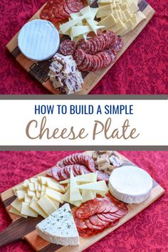 Cheese plates make a great visually appealing appetizer that caters to many tastes. This is how to make a simple cheese plate for a small gathering or party. #party #cheese via @thymeandjoy