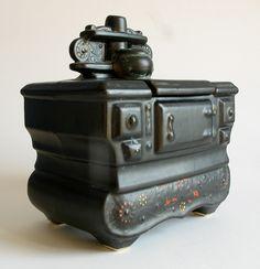 Vintage McCoy Cookie Jar Mid Century Modern Minimalist Black Old 1950s Powerful | eBay