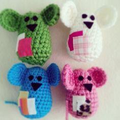 Ratones en crochet para gato de #Cherrymania