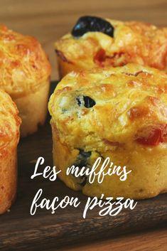 Aperitif idea: the recipe for pizza muffins! Easy Smoothie Recipes, Fun Easy Recipes, Snack Recipes, Fancy Pizza, Good Pizza, Pizza Pizza, Healthy Muffins, Healthy Snacks, Empanadas