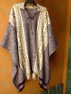Vtg Mexican Poncho  Loomed Fringed  Unisex by TradewindsFolkArt, $69.00