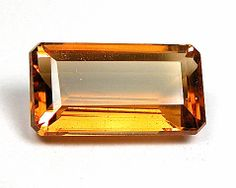 Citrine Emerald Cut 35.98ct FLawless - Custom Gem Cutter Studio