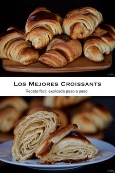 Los Mejores Croissants (paso a paso) Croissants, Sin Gluten, Dessert Sans Four, Cooking Time, Biscuits, Bread, Cookies, Desserts, Food