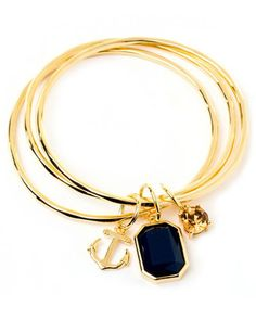 Spartina 449 Anchor Triple Bangle Navy Available at: www.always-forever.com
