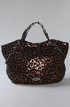 betsey johnson Cheetahlicious Tote Bag in Bronze