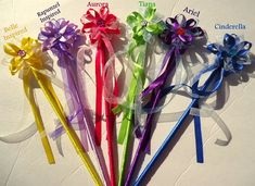 Disney Princess inspired fairy wand, birthday party, party favor, fantasy wedding, flower girl, etc