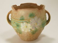 Vintage Roseville Pottery Cosmos Jardiniere Paper by dalesdreamsII,