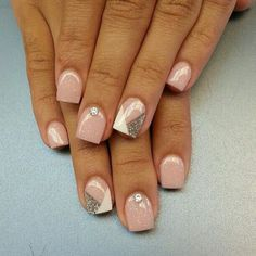 70 Cute Pink Nail Art Designs for Beginners - Easy Nail Designs Cute Pink Nails, Pink Nail Art, Fancy Nails, Pretty Nails, Short Nail Designs, Nail Art Designs, Easy Nail Polish Designs, Simple Nail Designs, Nails Design With Rhinestones