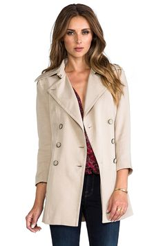 RACHEL ZOE Gerard Double Breasted Trench in Canvas from REVOLVEclothing