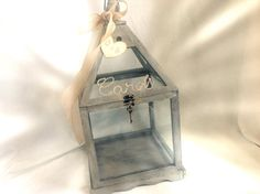 Wedding Card Holder Shabby Chic Lantern Rustic Card by ChiKaPea
