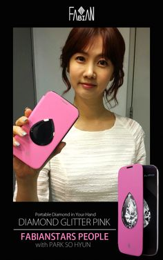 FABIANSTARS PEOPLE with Park So Hyun  Diamond Glitter Pink