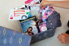 How to make the perfect care package…featuring the new #MiraclesFromHeaven DVD, and much more! #AD