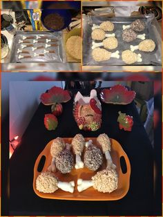 My own dessert turkey legs, these were so easy & fun to make!!! Everyone gobbled them right up ;)  #recipe #recipes #dessert #dessertrecipes #ricekrispietreats #ricekrispies #marshmallowtreats #whitechocolate #marshmallows #turkey #turkeylegs #desserts #cutedesserts #partyfood #pretzels #chocolatecoveredpretzels #chocolaterecipes #funnyfood #nobakedesserts #nobakerecipes #nobakedessertrecipes #cocoakrispies #kellogs #ediblebones #easydessertrecipes #simpledesserts