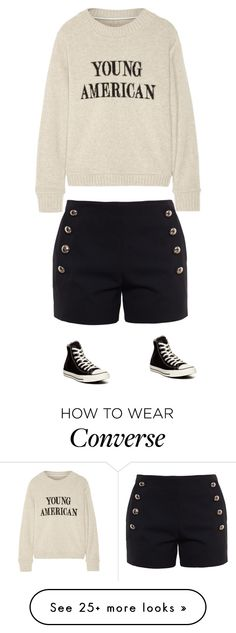 """young american converse lovers"" by lilabellamarcus on Polyvore featuring Chloé, The Elder Statesman and Converse"