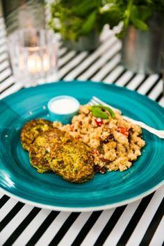 Couscous, Deli, Fried Rice, Broccoli, Nom Nom, Vegetarian Recipes, Good Food, Health Fitness, Veggies